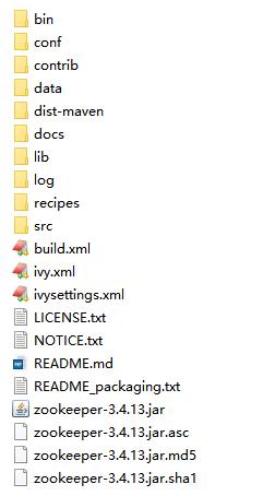 Zookeeper文件目录结构